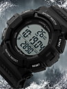 SKMEI 남성용 스포츠 시계 손목 시계 디지털 LCD 달력 크로노그래프 방수 경보 태양 에너지 스포츠 시계 고무 밴드 블랙
