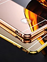 Case For iPhone 5 Apple iPhone 5 Case Plating Mirror Back Cover Solid Color Hard Acrylic for iPhone SE/5s iPhone 5