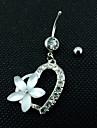 여성 바디 쥬얼리 Navel & Bell Button Rings 스테인레스 패션 화이트 보석류 일상 캐쥬얼 1PC