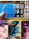 1 pcs Трафарет для маникюра шаблон Мода Повседневные / Металл