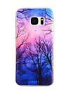 Para Samsung Galaxy S7 Edge Estampada Capinha Capa Traseira Capinha Arvore TPU Samsung S7 edge / S7 / S6 edge / S6