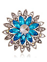 Women\'s - Rhinestone, Imitation Diamond Luxury, European, Fashion Brooch Purple / Coffee / Blue For Wedding / Party / Daily