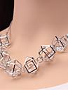 Women\'s Luxury Fashion European Choker Necklace Statement Necklace Crystal Rhinestone Imitation Diamond Alloy Choker Necklace Statement