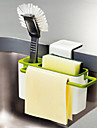 Kitchen Brush Sponge Sink Draining Washing Holder with Suction Cup