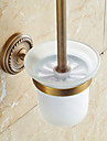 Toilet Brush Holder Traditional Brass 1 pc - Hotel bath