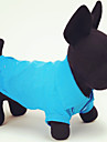 Cat Dog Shirt / T-Shirt Dog Clothes Casual/Daily Solid Yellow Red Green Blue Pink Costume For Pets