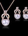 Women\'s Jewelry Set Rose Gold Pearl Imitation Pearl Rhinestone Imitation Diamond Rose Gold Plated Alloy Cute Party Fashion Party Special
