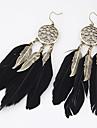 Γυναικεία Κρεμαστά Σκουλαρίκια Φτερό Σκουλαρίκια Leaf Shape Φτερό κυρίες Εξατομικευόμενο Ευρωπαϊκό Μοντέρνα Ινδιάνα Κοσμήματα Για Πάρτι Καθημερινά Causal