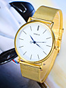 Мужской Наручные часы Повседневные часы Кварцевый сплав Группа Серебристый металл Золотистый