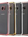 Para Samsung Galaxy Capinhas Cromado / Transparente Capinha Capa Traseira Capinha Cor Unica TPU Samsung S7