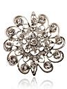 Femme Strass Plaque argent Imitation de diamant Simple Style Bijoux Soiree Quotidien Decontracte