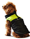 Dog Coat Vest Winter Clothing Dog Clothes Casual/Daily Keep Warm Color Block Yellow Red Black/Pink Black/Green Black/Blue