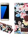 Huelle Fuer Samsung Galaxy S7 edge S7 Kreditkartenfaecher Geldbeutel mit Halterung Flipbare Huelle Ganzkoerper-Gehaeuse Hart PU-Leder fuer S7