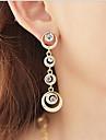 Femme Zircon Strass Boucles d'oreille goutte Boucles d'oreille gitane - Forme de Cercle Pour