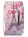 For Huawei Case Wallet / Card Holder / with Stand Case Full Body Case Eiffel Tower Hard PU Leather Huawei Huawei Y6/Honor 4A