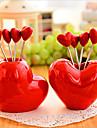창조적 인 사랑 스타일 스낵 포크 과일 포크 장식 장식 5 포크