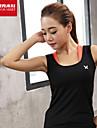 Per donna Arancione Rosso rosa Verde Gli sport Curva Elastene Canotte Top Yoga Pilates Esercizi di fitness Senza maniche Abbigliamento sportivo Traspirante Morbido Elasticizzato
