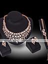 Mulheres Perola / Diamante sintetico Conjunto de joias - Banhado a Ouro 18K, Perola, Chapeado Dourado Luxo Incluir Branco Para Casamento / Festa / Imitacoes de Diamante