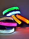 Dog Collar LED Lights Adjustable / Retractable Nylon Red Green Blue Pink