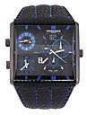 Мужской Наручные часы Кварцевый С двумя часовыми поясами Кожа Группа Черный Коричневый