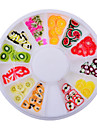 Joias de Unhas-Adoravel- paraDedo- deAcrilico- com1wheel fruit fimo nail decorations-6cm wheel- (cm)
