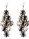 European Style Gold/Silver Flower Earrings Jewelry for Women