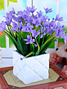 Artificial Flowers 1 Branch Pastoral Style Orchids Tabletop Flower