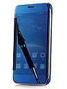 Pour Samsung Galaxy S7 Edge Plaque Miroir Clapet Transparente Coque Coque Arriere Coque Couleur Pleine Polycarbonate pour SamsungS7 edge