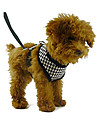 Dog Harness Leash Adjustable / Retractable Textile Black Red