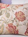 1 штук Полиэстер Наволочка, Цветочный принт Традиционный