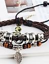 Bracelets en cuir Cuir dames Original Retro Soiree Travail Decontracte Bijoux Marron Mignon pour Soiree Cadeau Valentin 1pc
