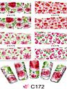 1pcs Adesivos para Manicure Artistica Transferencia de agua adesivo Flor Desenho Adoravel maquiagem Cosmeticos Designs para Manicure