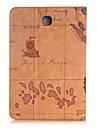 Кейс для Назначение SSamsung Galaxy Вкладка S2 9.7 Кейс для  Samsung Galaxy Бумажник для карт Кошелек со стендом Флип Чехол Мультипликация