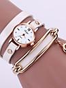 여성용 패션 시계 팔찌 시계 석영 합금 밴드 스파클 블랙 화이트 블루 레드 오렌지 브라운 그린
