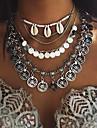 Жен. форма кисточка Богемные Многослойный Мода Простой стиль европейский Ожерелья с подвесками Раковина каури Морская раковина Сплав