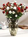 Kuenstliche Blumen 1 Ast Hochzeitsblumen Rosen Tisch-Blumen