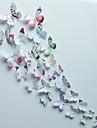Animaux Romance Mode Forme Floral 3D Stickers muraux Autocollants muraux 3D Autocollants muraux decoratifs, Vinyle Decoration d\'interieur