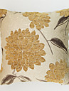 1 pcs Chenille Polyester Pillow Cover, Floral Traditional
