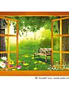 Декоративные наклейки на стены - Простые наклейки Пейзаж / Животные Гостиная / Спальня / Столовая / Съемная