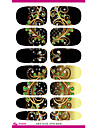 Water Transfer Nail Foil Sticker Black Dream Peacock Feathers Nail Wraps Sticker Elegant