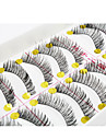 Eye Eyelash 10 Extended Volumized Party Makeup Daily Makeup Full Strip Lashes Crisscross Thick 1.1cm