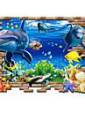 Paysage Animaux Nature morte Mode Bande dessinee Loisir Stickers muraux Autocollants muraux 3D Autocollants muraux decoratifs, Vinyle