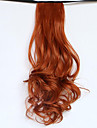 20 inch Red Clip In Wavy Curly Ponytails Tie Up Synthetic Hair Piece Hair Extension