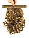 Clip In ذيل الحصان مطاط التفاف حول شعر مستعار صناعي قطعة الشعر إطالة الشعر مجعد