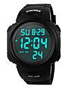 SKMEI 남성용 스포츠 시계 손목 시계 디지털 시계 디지털 LCD 달력 크로노그래프 방수 경보 야광의 스톱워치 고무 밴드 블랙 그린