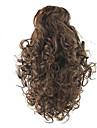 Hestehaler Syntetisk hår Hårstykke Hårpåsætning Naturligt, bølget hår
