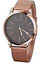 Men\'s Fashion Watch Quartz Chronograph Alloy Band Sparkle Minimalist Black Silver Rose Gold