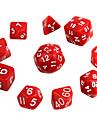 Exquisite Polyhedral Acrylic Dice (10 PCS)