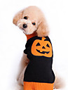 Cat Dog Sweater Dog Clothes Cute Halloween Pumpkin Black Costume For Pets