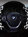 Καλύμματα για το τιμόνι αυτοκινήτου Χνουδωτό 38 εκ Καφέ / Λευκό / Ρουμπίνι Για Universal